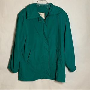 London Fog Towne 3/4 length coat green sz medium